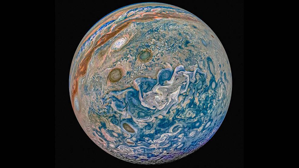 New data from NASA's Juno Navigators Enable Jupiter Cyclone Discovery