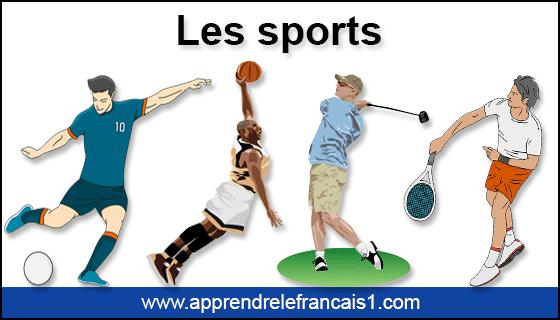 انواع الرياضات بالفرنسية