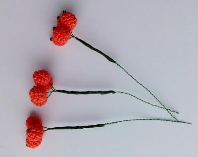 гроздь рябины крючком