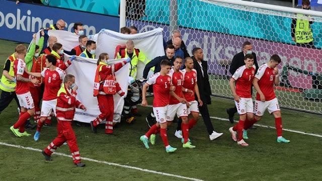 Παγκόσμια συγκίνηση για την κατάρρευση του Δανού ποδοσφαιριστή Κρίστιαν Έρικσεν (βίντεο)