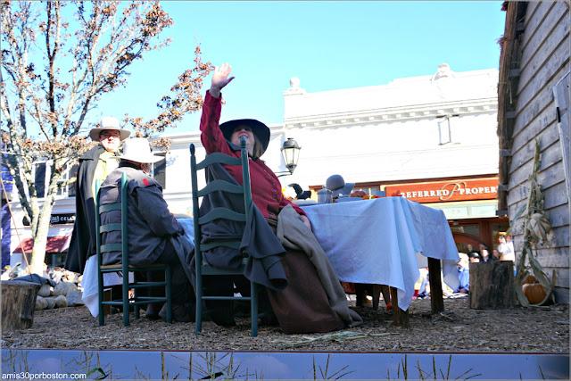 Carroza en el Desfile de Plymouth por Acción de Gracias