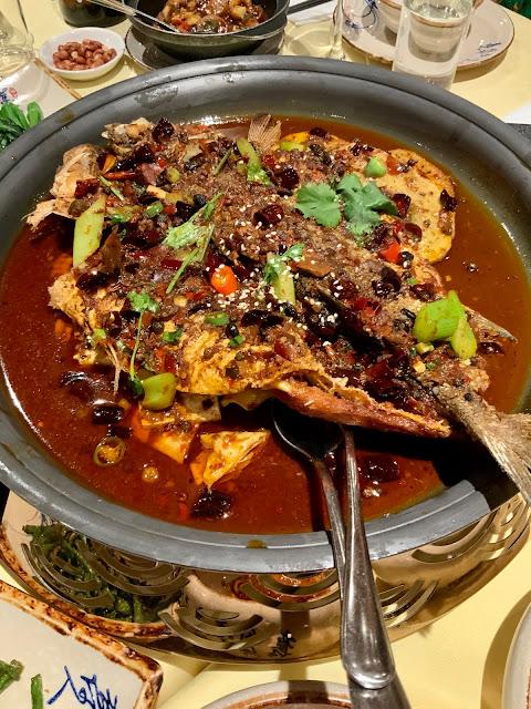 Sichuan whole seabass dish, Jinli, Newport Place, Chinatown, London #TheGCAs