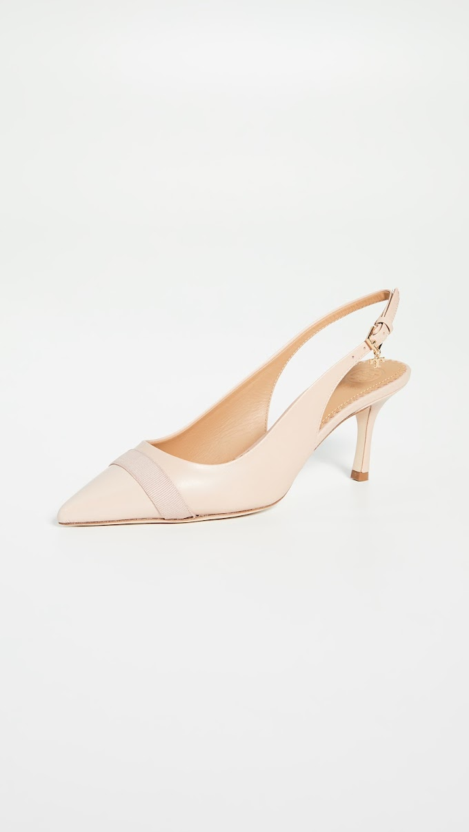 Tory Burch Penelope 65MM Cap-Toe Slingback Pumps