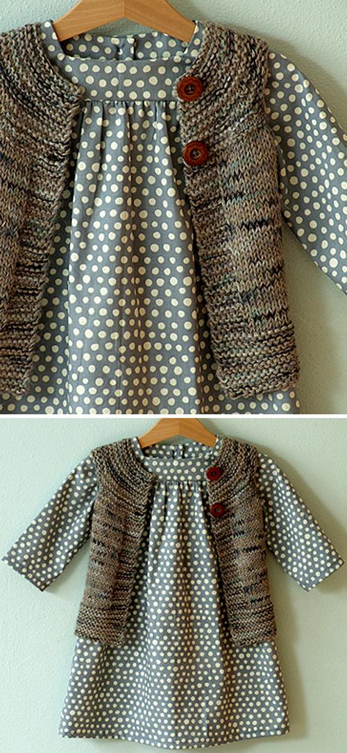 Plain Vest - Knitting Pattern