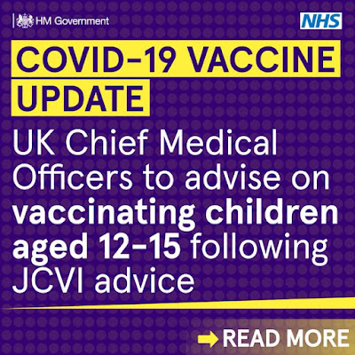 030921 UK CMO's to get responsibility of deciding if kids get jabs