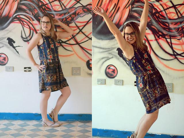 vestido leve de verão cantão