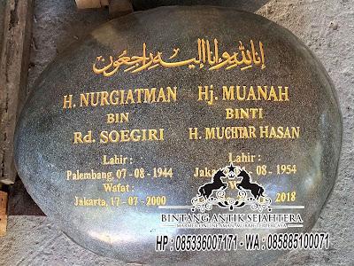 Harga Nisan Batu Alam, Nisan Batu Sungai, Makam Dompalan