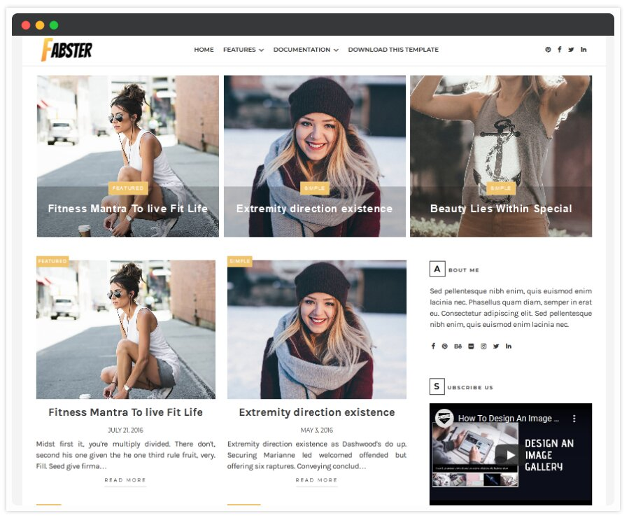 Fabster Blogger Template | Responsive Blogger Templates 2020