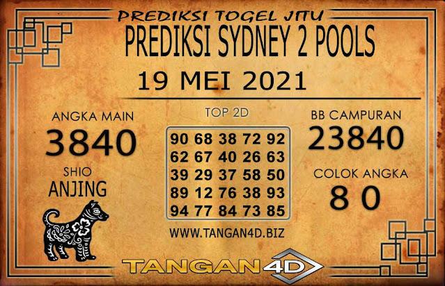 PREDIKSI TOGEL SYDNEY2 TANGAN4D 19 MEI 2021