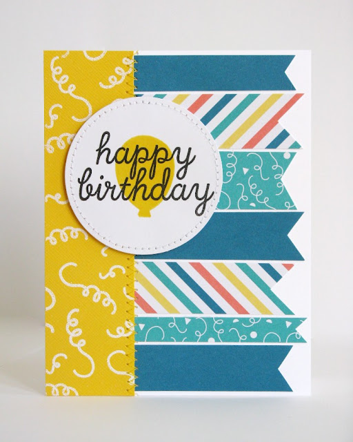 Birthday Card using Stampin' Up Paper Pumpkin May 2015 Kit by Mendi Yoshikawa