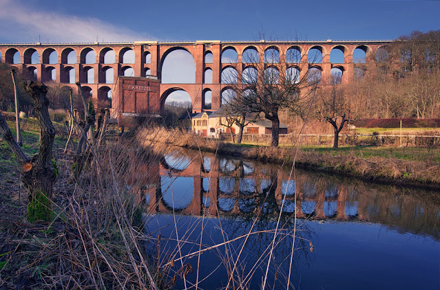 Göltzsch Viaduct, goltzsch viaduct, goltzsch viaduct, brick bridge, The largest brick bridge in the world, The largest brick bridge in the world is in Saxony, railway brick bridge in germany,
