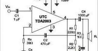 lhagus813: Rangkaian Amplifier menggunakan IC TDA 2003