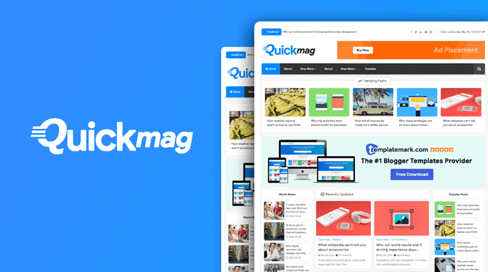 Quick Mag Premium Magazine Blogger Template