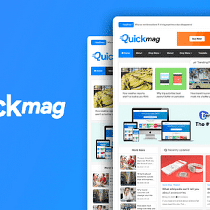 Quick Mag Professional Magazine Blogger Template