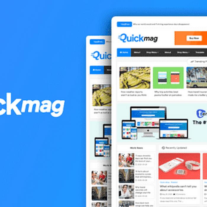 Quick Mag Professional Magazine Blogger Template