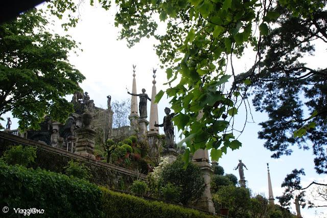 Vista sul parco del Palazzo Borromeo dell'Isola Bella