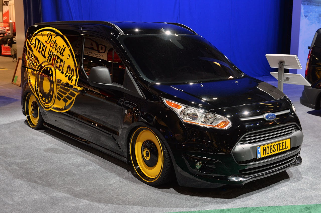 Customized Ford Transit Connect >> © Automotiveblogz: Ford Transit Connect Customs SEMA 2013 Photos