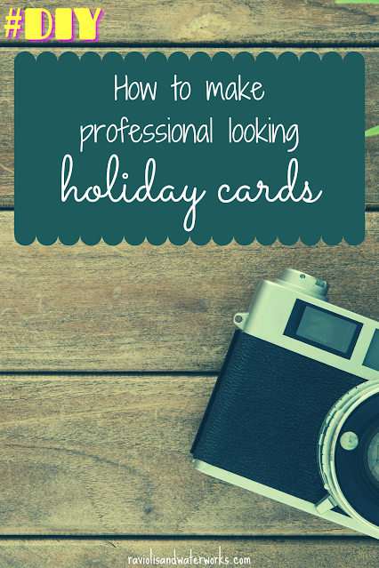 DIY making your own holiday cards