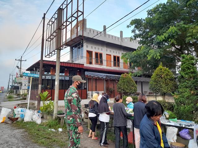 Penegakan Disiplin Protkes Dilakukan Personel Jajaran Kodim 0207/Simalungun Diwilayah Binaan