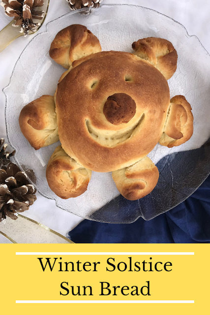 Sun bread is a yummy and cheery way to bring sunshine into your home during the winter. It's also a fun way to celebrate the winter solstice and the return of light.