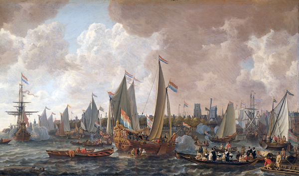 The arrival of King Charles II of England in Rotterdam, may 24 1660