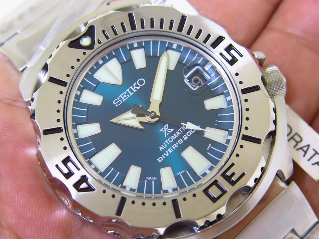 SEIKO DIVER GREEN MONSTER - SEIKO SZSC005 - AUTOMATIC 6R15