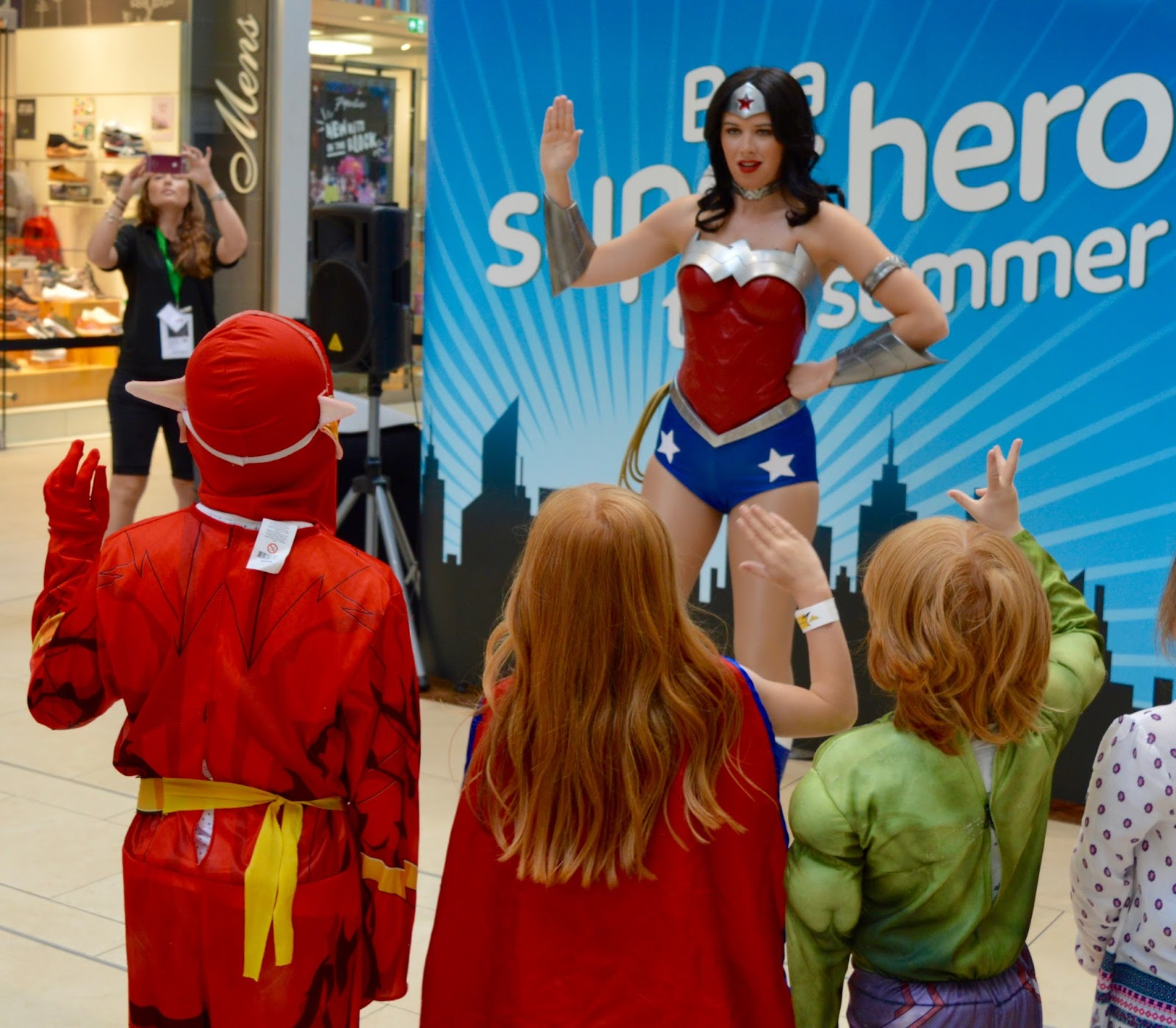 We met WonderWoman at intu Eldon Square