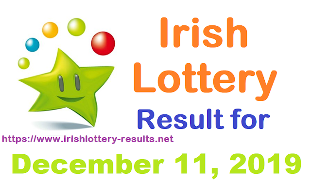 Irish Lottery Results for Wednesday, December 11, 2019