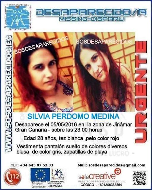 joven desaparecida de Jinamar Silvia Perdomo Medína