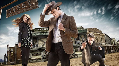 Dr Who, A Town Called Mercy, Stetsons are cool and Rory holds a dead animal