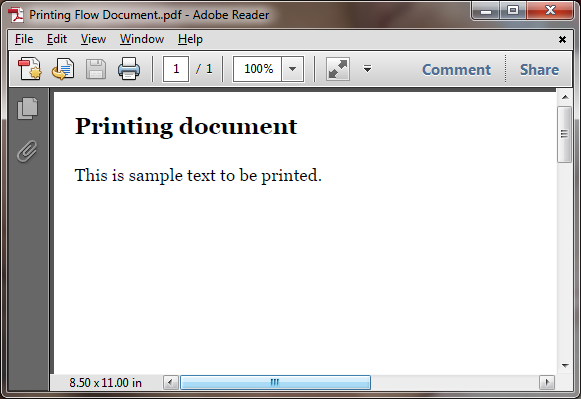 Mitesh Sureja's Blog: Printing Flow Document using WPF PrintDialog