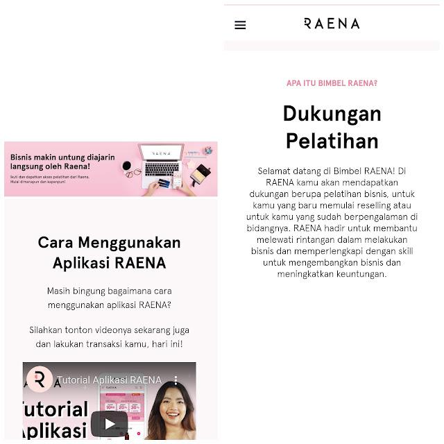 Cara menggunakan aplikasi Raena