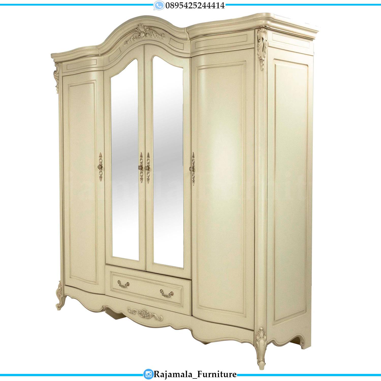 Model Lemari Baju Kaca Mewah Luxury Carving Furniture Jepara RM-0175