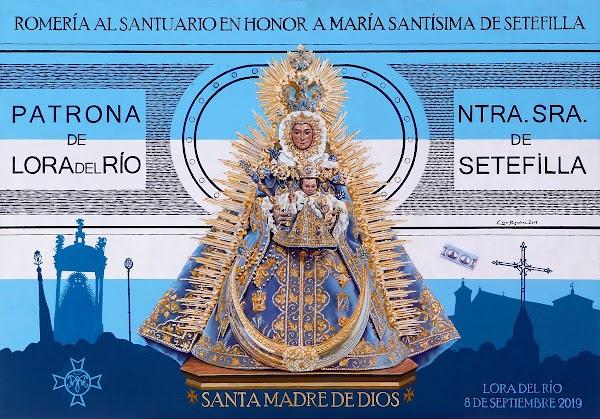 Cartel de la Romeria en Honor a María Santísima de Setefilla