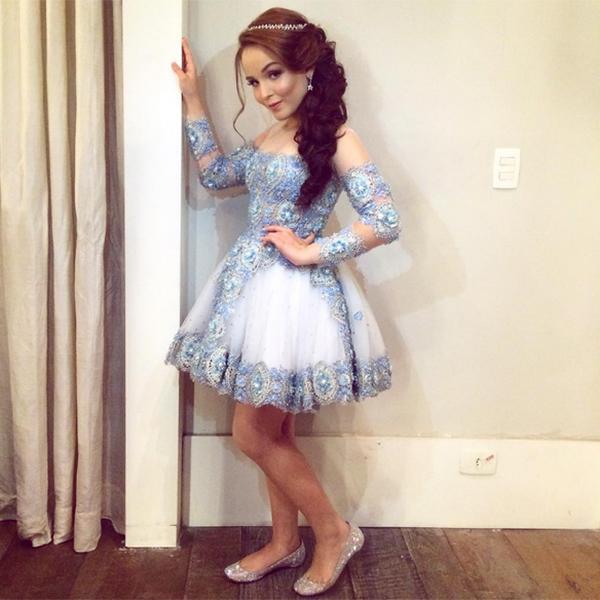 Larissa Manoela vestido quinze anos festa