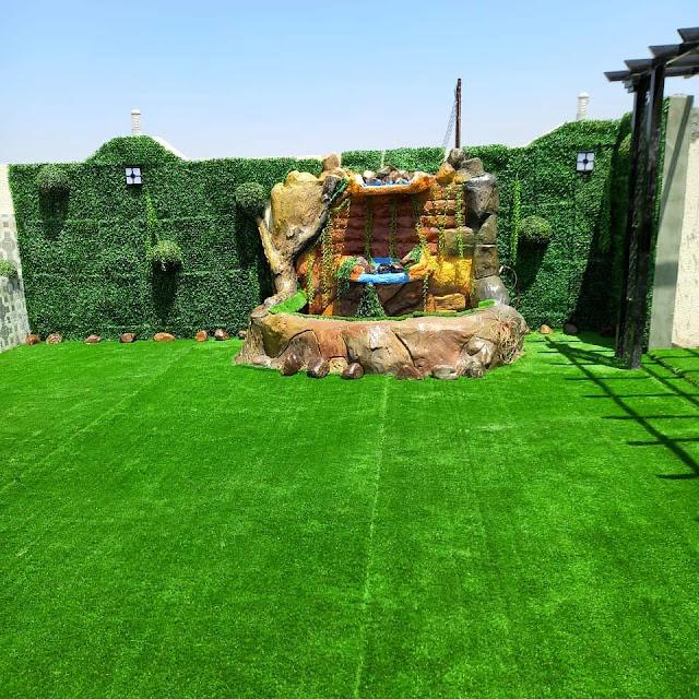 تصميم جلسة خارجية  جلسات داخل المنزل للحدائق تزيين حدائق عشب صناعي