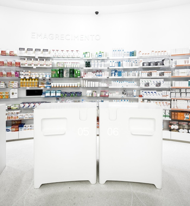 Picture of pharmacy products on the wall