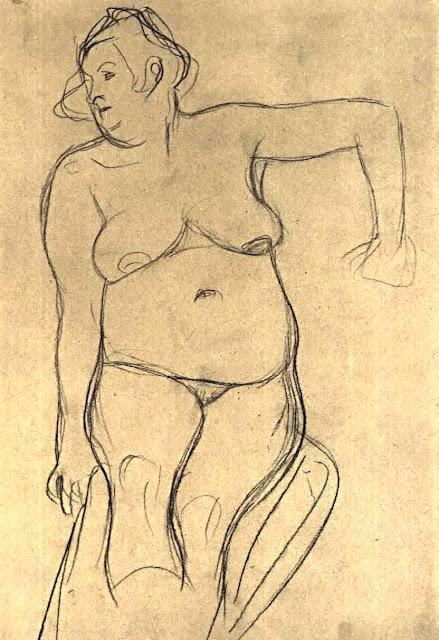 Gustav KLIMT - Modella seduta - erotismo - arte