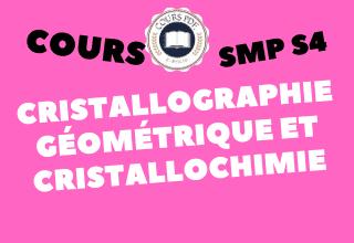 Cristallographie Et Cristallochimie SMP S4 - cours / td & exercices / examens / résumés [PDF]