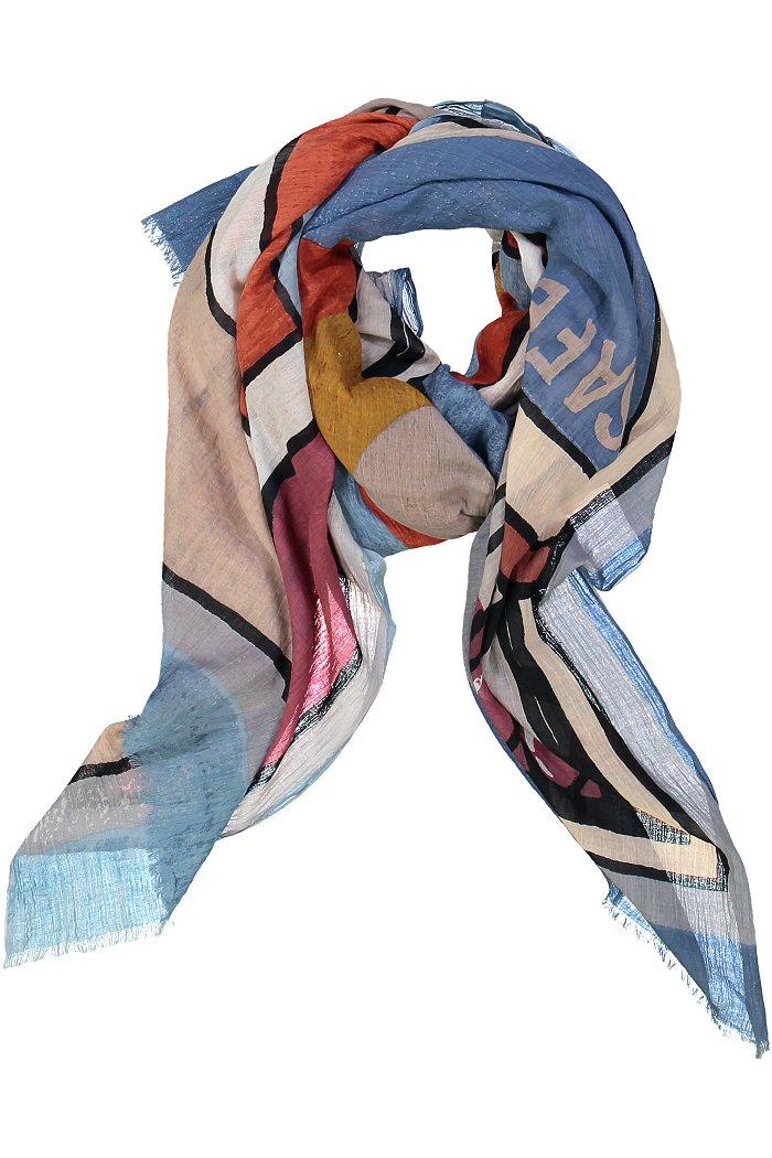 Foulard rouge et bleu Mii