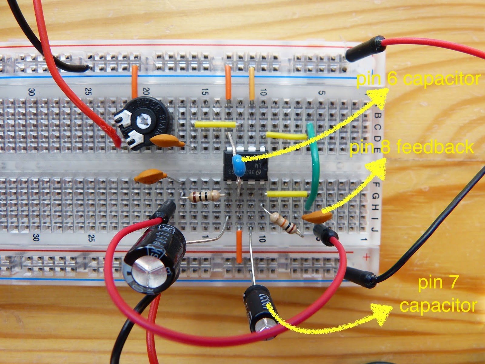 Create A Simple Audio Amplifier Lm386 Part 2 Homehack Circuit Using Improved With Significantly Reduced Noise The 10uf Capacitor Between Pin1 And 8 Is Removed I Didnt Need Additional Gain