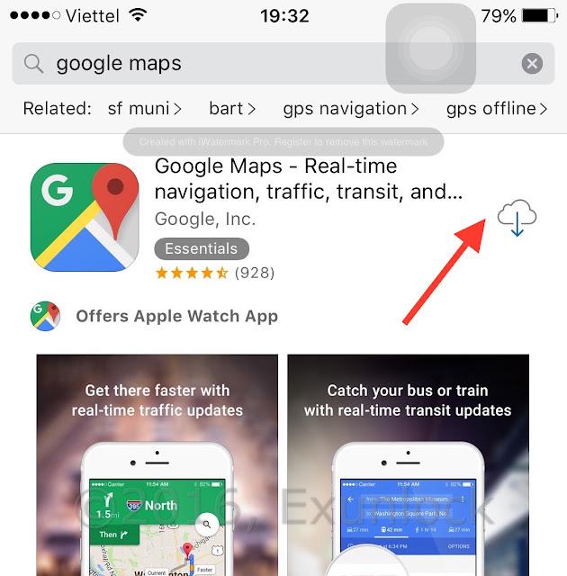 Hướng dẫn cài đặt google map trên iphone