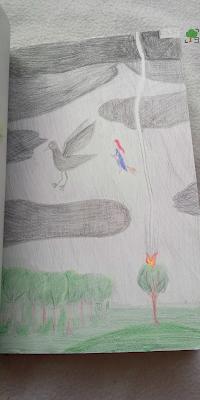 rysunek, ptak, magia, pogoda