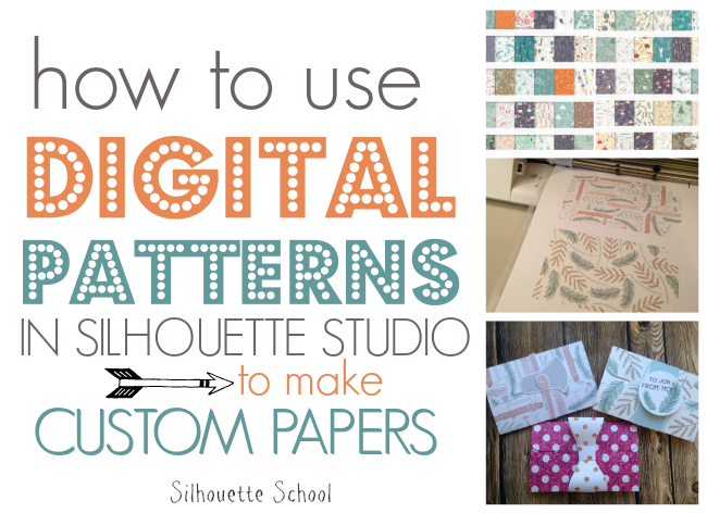 Silhouette Studio, Silhouette tutorial, Silhouette Cameo, custom papers