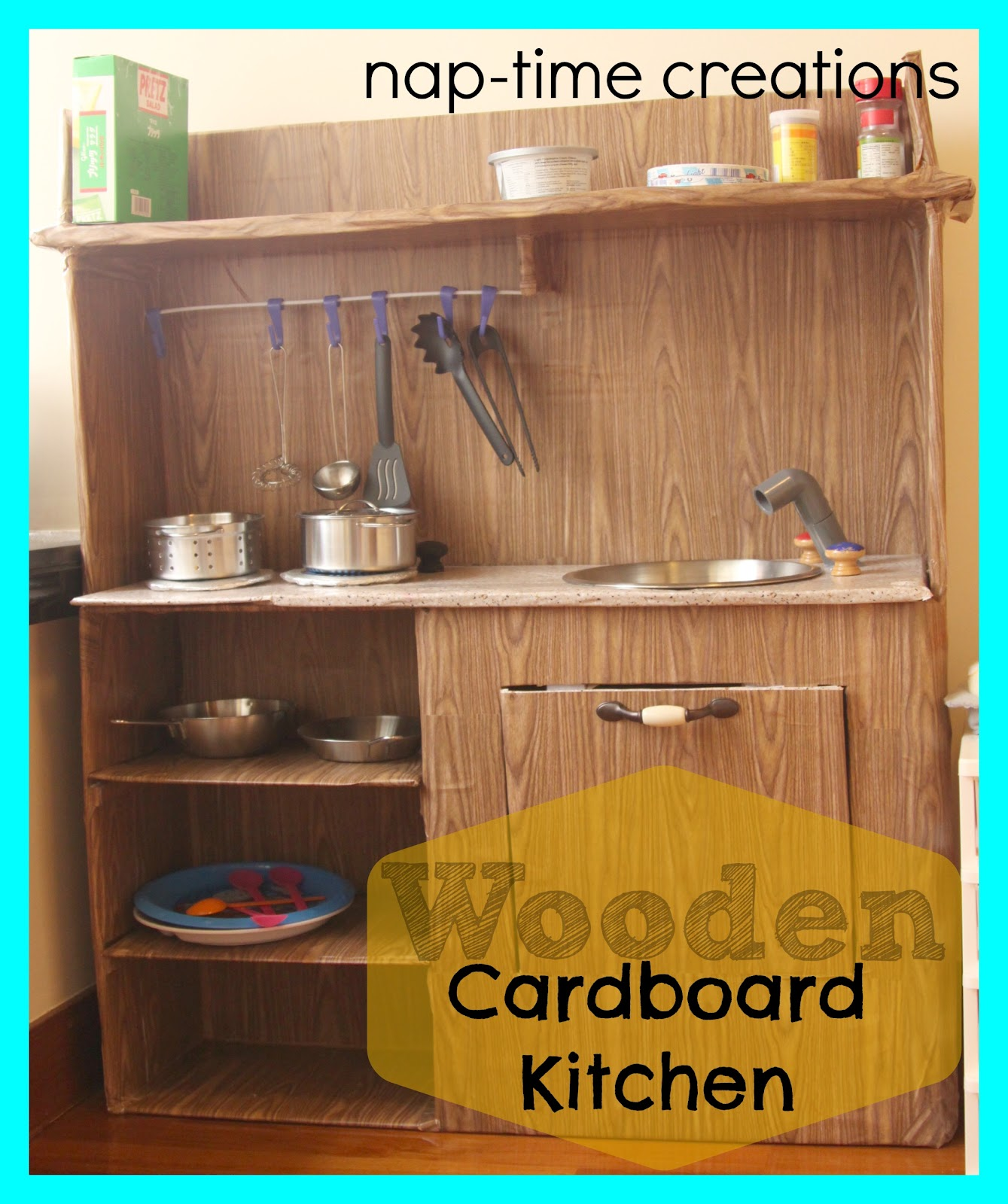 8 White Kitchens That Will Make You Say Wow: Cardboard Kitchen-for My Boys