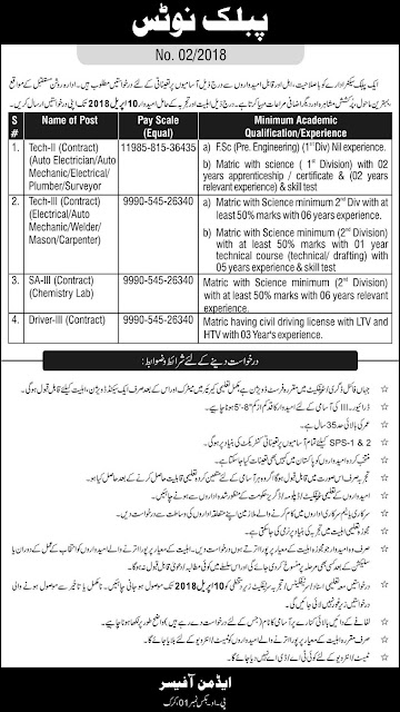 Jobs in Pakistan Atomic Energy Commission Jobs 2018