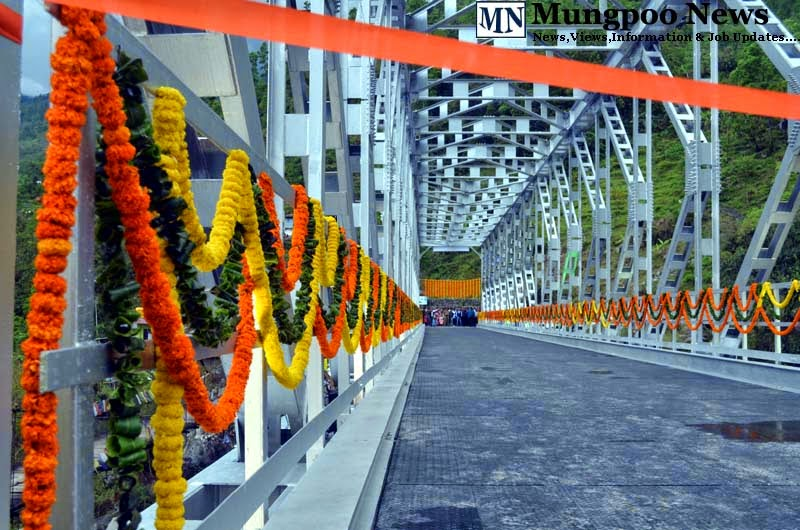 decorated Jogighat Steel Bridge on inauguration