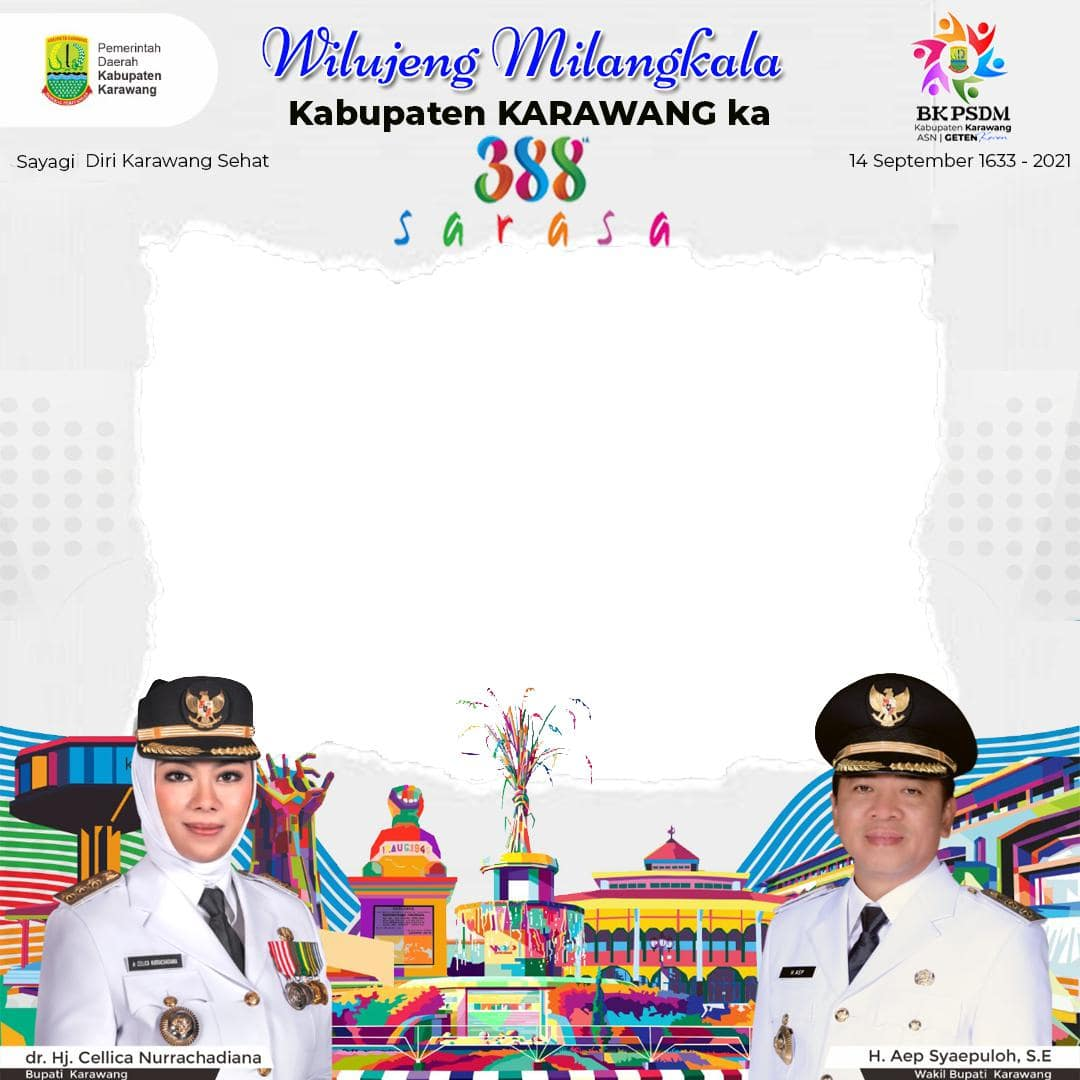 Link Frame Bingkai Foto Twibbon Ucapan Ulang Tahun Kabupaten Karawang 2021, Hari Jadi Karawang ke-388