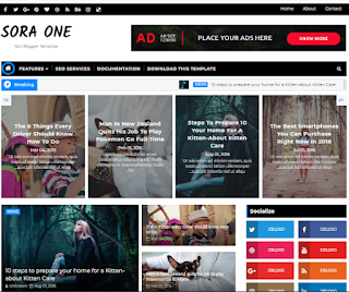 Sora One Blogger Template Free Download