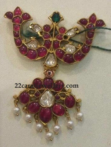 Dark Ruby Pendant Sets 40 to 50gms